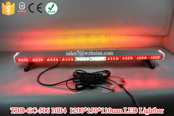 LED Red Emergency Warning Lightbar with Amber Traffic Advisor Lights/Aluminum Alloy LED Lightbar Flash TBD-GA-506 10B4