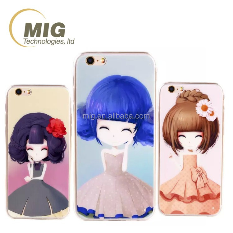 Beautiful lovely/ cute girls mobile phone accessory cell phone case cover for iphone 6s, for iphone 6 phone case clear