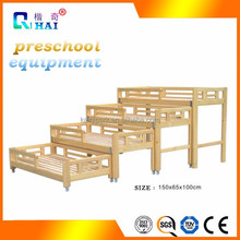 High quality wholesale nursery cot stackable kids preschool plastic bed