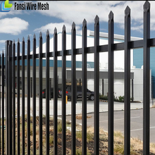 China Supplier Black Metal Tubular backyard cast iron fence / iron fence design / prefab iron fence panels