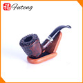 FT00448 Yiwu Futeng Resin Wooden Tobacco Pipe Handmade Wood Pipes Antique Smoking Pipes