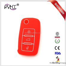 new hot selling China supplier cheap key holder promotional silicone car key cover for VW