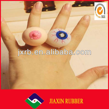 Fashion plastic toy finger rings