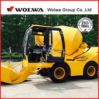 mobile concrete mixer self loading with 3 cubic meters mixing volume