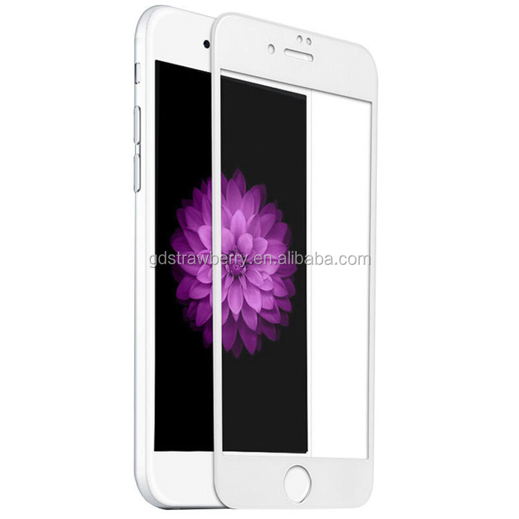 0.33 mm ultra thin full cover 2.5d color tempered glass screen protector for iphone 7