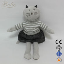 2014 Hot Selling Soft Plush Animal Cat Toys (CA130238-A) from China Manufacturer