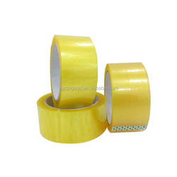 Amazon 2017 Yellow Color Adhesive BOPP Transparent Packaging Tape For Sealing Packing