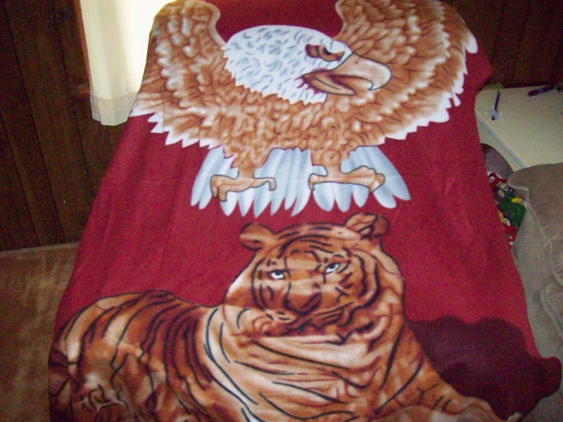 New Collection 60 X 70 Fleece Blanket Eagle with Tiger