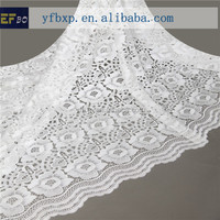 High quality materials flower guipure white lace fabric/ new york wholesale fabric lace for girl party dresses