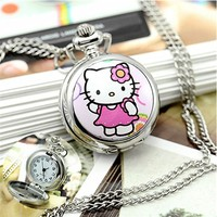 Fashion Hello Kitty Watch Cartoon Pocket Watch