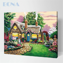 Bona Acrylic Painting By Numbers Garden Flowers