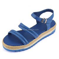 Export goods low price ladies sandals vogue vintage hemp rope sandals summer ladies comfort sandals made in Dongguan