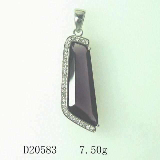 Bulk Sale Stock 925 thailand Silver Earring jewelry purple Chakra Crystal Pendant