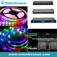 MIB6120 IC PVC cover DMX rgb led flexible strip, 30pcs SMD 5050 per meter,DC12V 8W/m, artnet controllable Madrix pixel lihgt bar