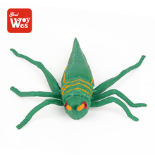 Environment friendly rubber beetle insect toy model imported toys for kids