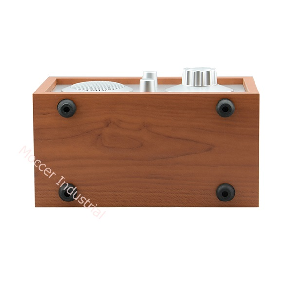 Wooden frame portable vintage am fm radio with Line-in