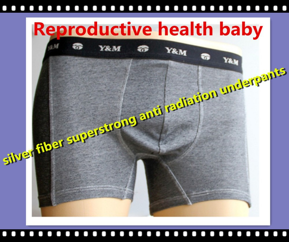 silver nano fiber and cotton material anti radiation antibacterial boxer brief for man