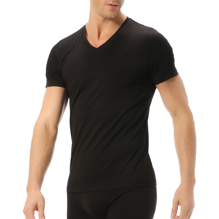 Sports Fitness Apparel OEM V Neck T shirt Custom Design From Garment Factory Design Your Own T shirt