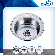 Wholesale stainless steel kitchen wash basin/latest stainless steel kitchen sink for hotel/round corner kitchen sink