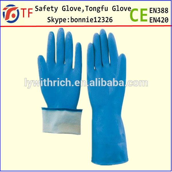 Latex household cleaning glove fishing glove latex cut for Fish cleaning gloves