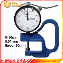 good quality high accuracy precision throat 30mm 0-10mm 0.01mm dial thickness gage thickness gauge