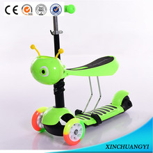 China factory wholesale cheap price PU wheels kids baby scooter