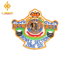 Creative design stick-on embroidered small flag patches custom
