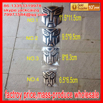 Wholesale 3D Chrome Badge Transformer Autobots Car Emblem Sticker