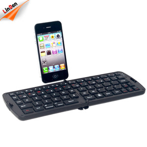 Cheap Double Folding Wireless Bluetooth Keyboard for iPad Macbook Desktop Laptop Notebook