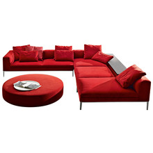 Modern red royal style sofa set sectional designs for wedding living room