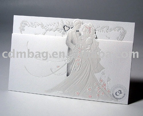 Paper wedding card