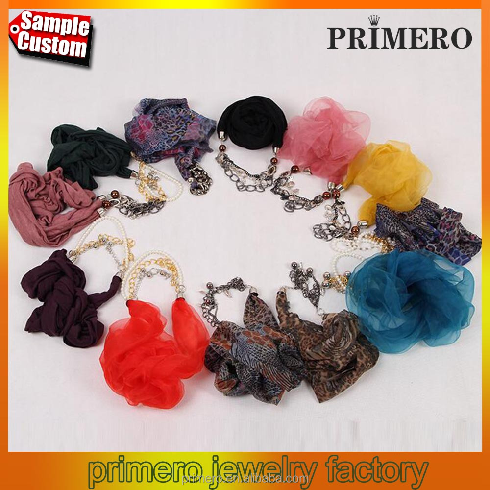 Scarves Print Leopard Fashion Chiffon Scarf Necklaces For Women Jewellery