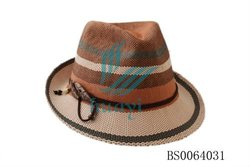 fashionable weaved paper sraw hat adding glue