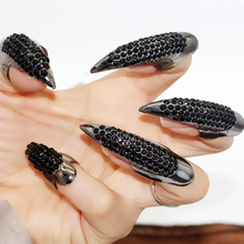 CS00649 JN wholesale designer Halloween fashion statement full nail claw rings woman costume jewelry women dropshipping