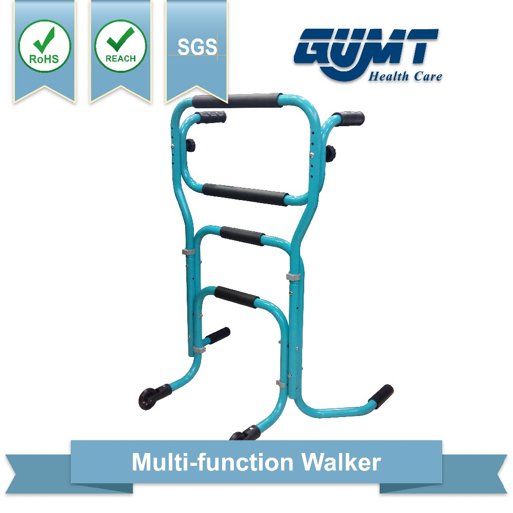adjustable Alum light weight legs standing walker for seniors