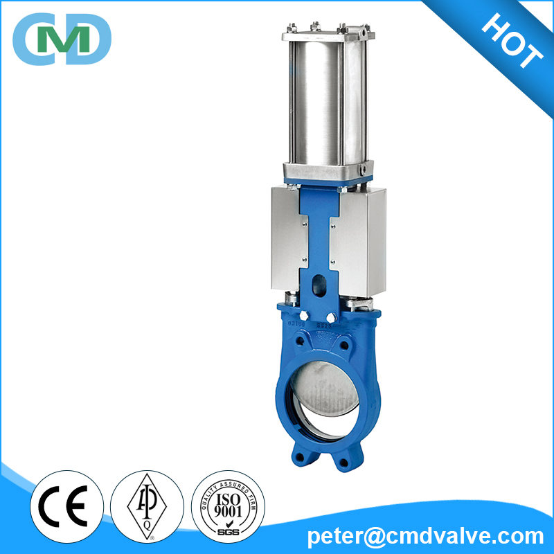 PN10 Pneumatic Operated Cast Iron EX Knife Gate Valve for Slurry