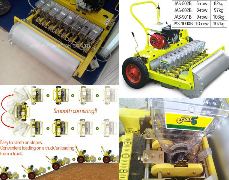 Seeding Machine: Jang Gasoline Seeder JAS-502B Powered by Gasoline engine for vegetables