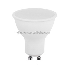 Best sell white plastic / plastic+aluminum body led spotlight 240lm 120 degree SMD3528 3W GU10 LED light bulb