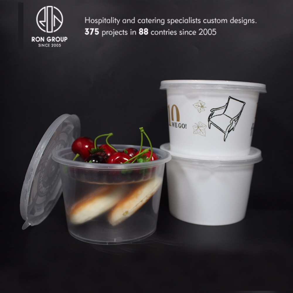 Restaurant food grade 1000ml white plastic disposable food container