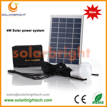portable mini LED rechargeable 4W 4400mAh lithium battery portable working model of solar system