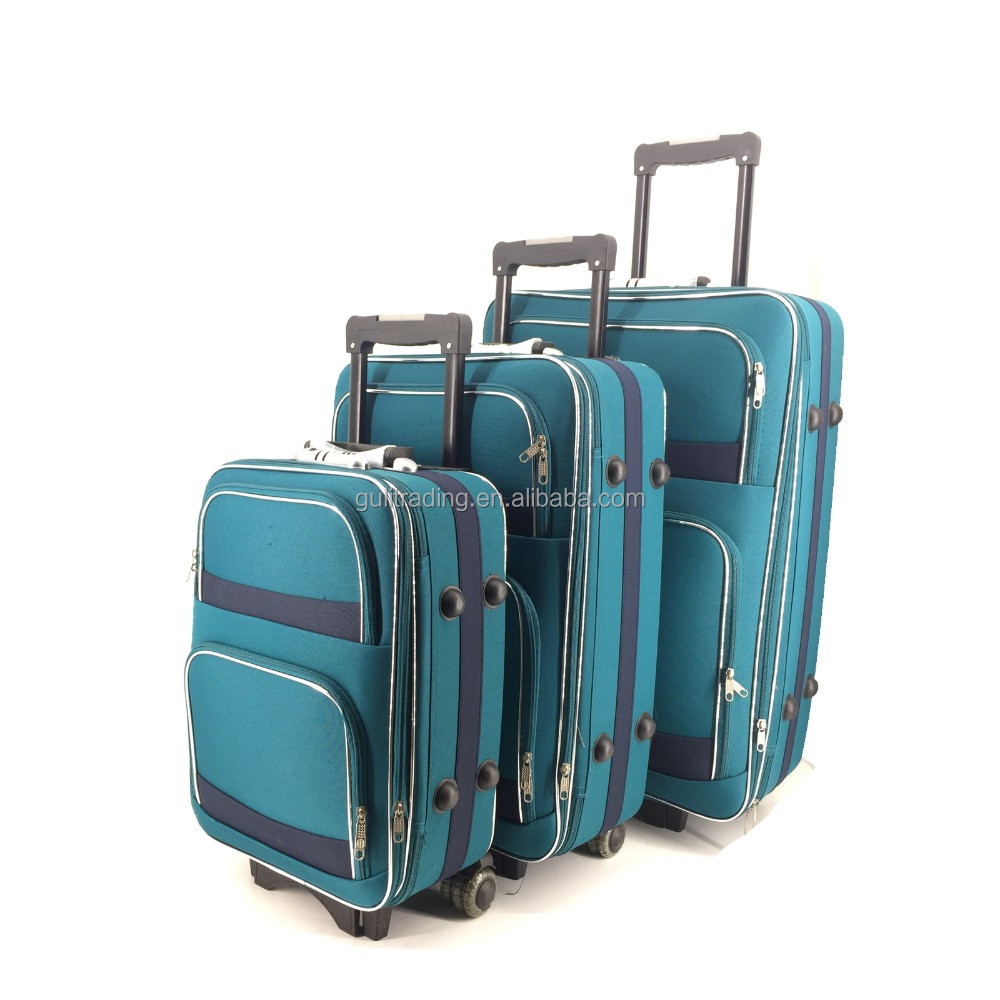 2017 New design soft trolley travel eva luggage set/trolley suitcase/trolley case