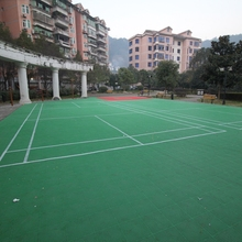 Sport Mat Material Outdoor Synthetic Badminton Court Flooring