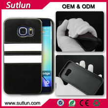 Bumper leather hard back case cover for iPhone 4 4s 5 5s 6 6 plius Samsung galaxy S3 S4 S5 mini i9300 i9500 i9600 S6 edge Note 4