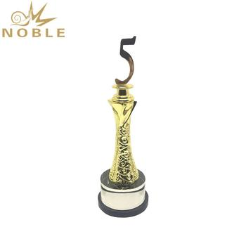 Gold Silver Bronze Zinc Alloy 5 Years Metal Anniversary Award