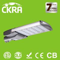 ETL and DLC listed Waterproof high efficiency aluminium housing beam angle adjustable led street light 100w