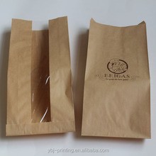 with clear window brown kraft paper fried chicken bags
