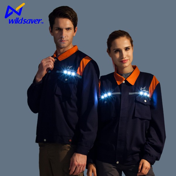 Wildsaver led security labour safety lighted safety vest clothes