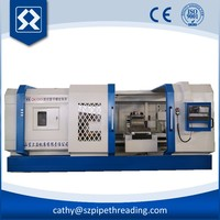 QK1343 CNC horizontal pipe threading lathe machine with high quality