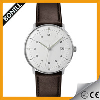 Global Sale genuine leather custom logo moq 100pcs leather band couple watch 36mm 40mm