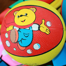 customized printed soft mini rubber basketball for kids